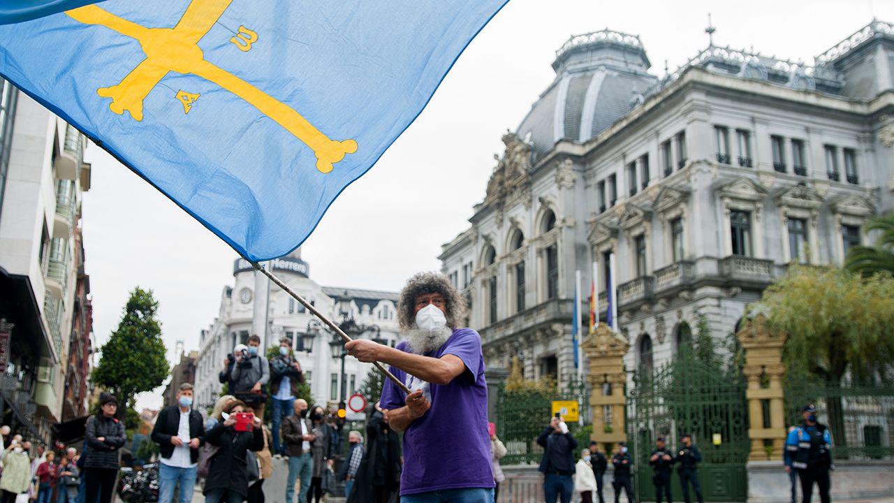 Manifestación por la oficialidad del asturiano.Manifestación por la oficialidad del asturiano