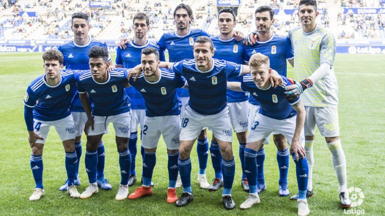 Saul Berjon Real Oviedo Nastic Carlos Tartiere.Alineación del Real Oviedo ante el Deportivo