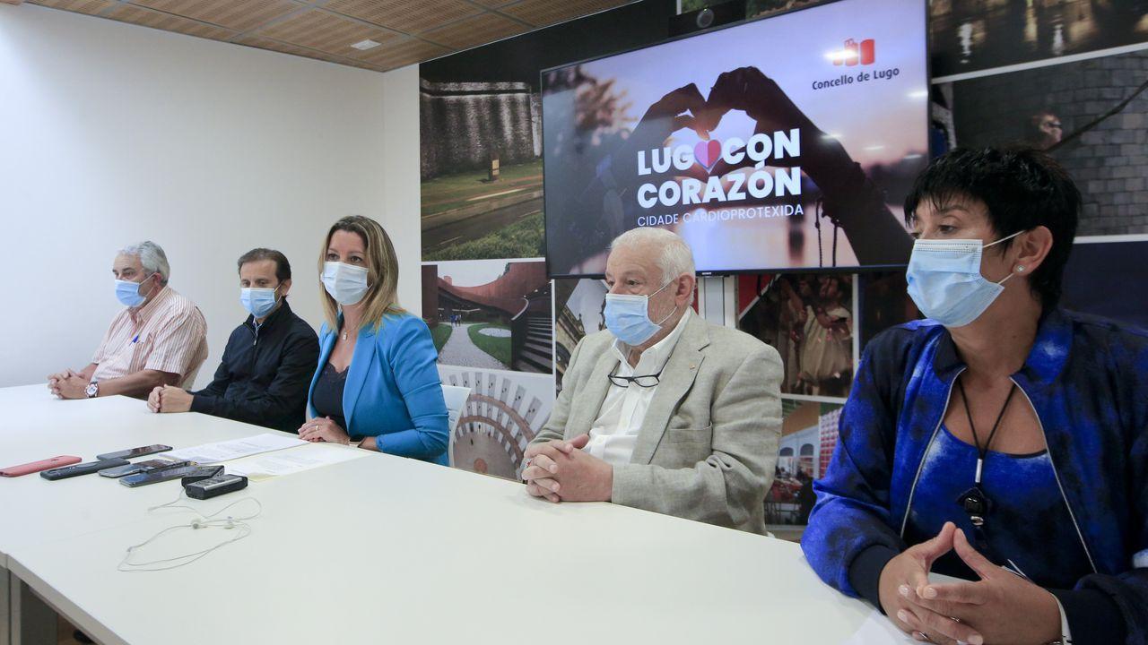 Imagen de la rueda de prensa en la que se anunció la campaña, celebrada en el Concello