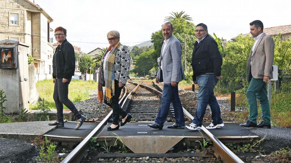 Los candidatos de Pontecesures posan para La Voz