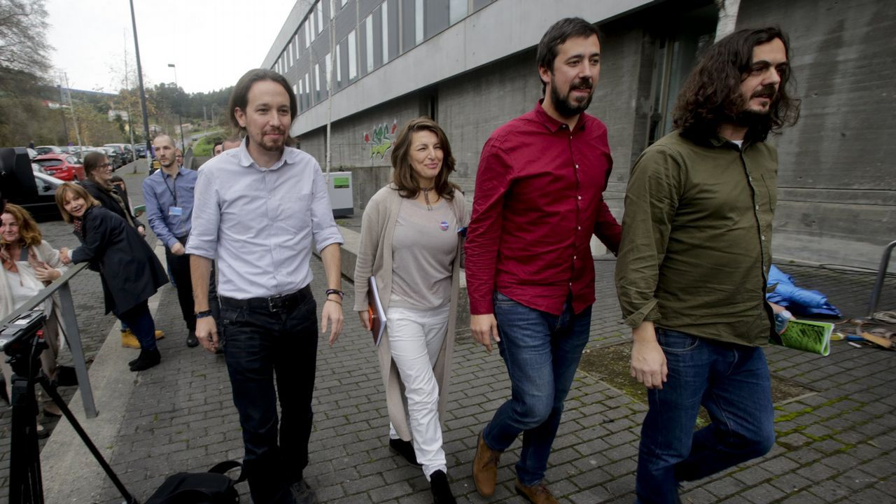 Paula Vázquez Verao, Paula Quinteiro y Davide Rodríguez, diputados de En Marea