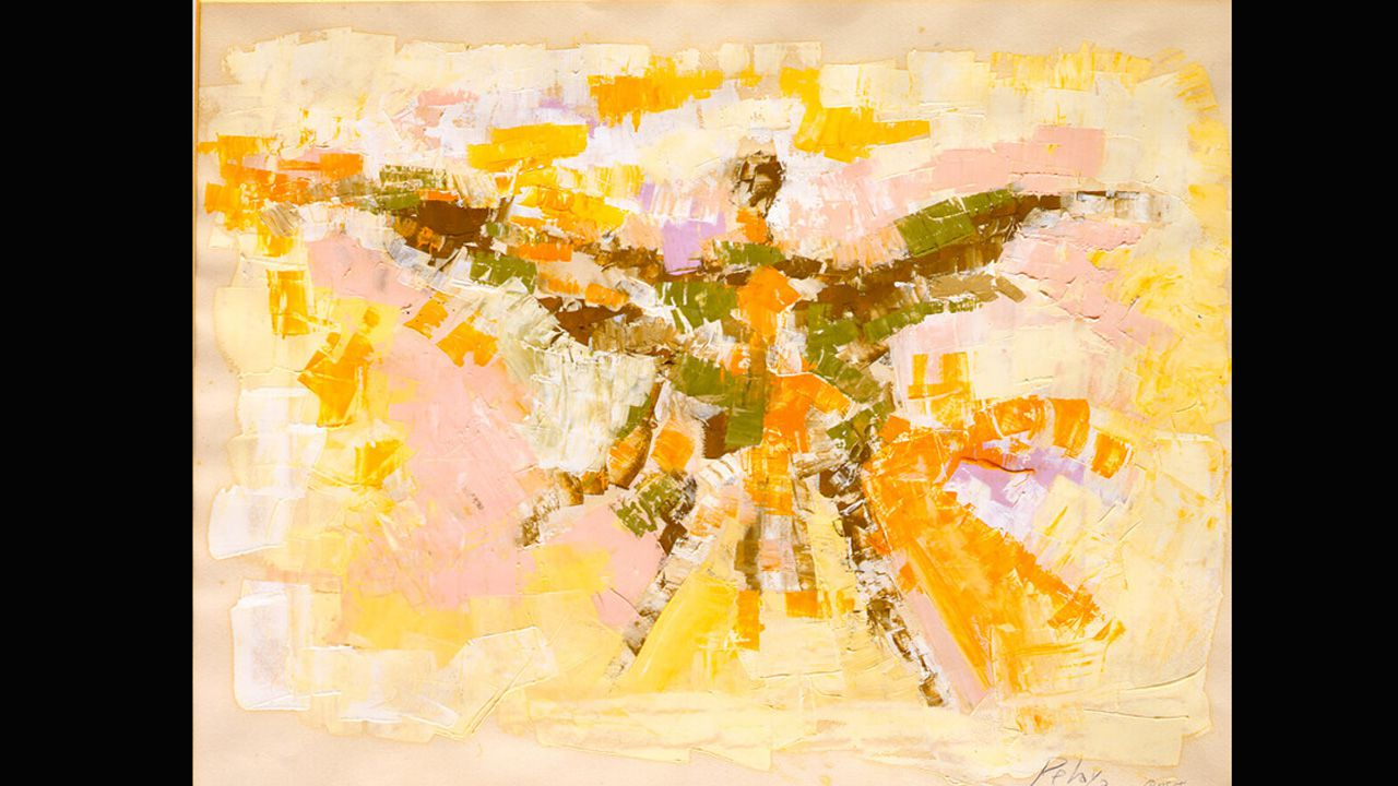 Museo de Bellas Artes.Ícaro, una obra de Orlando Pelayo datada en 1958