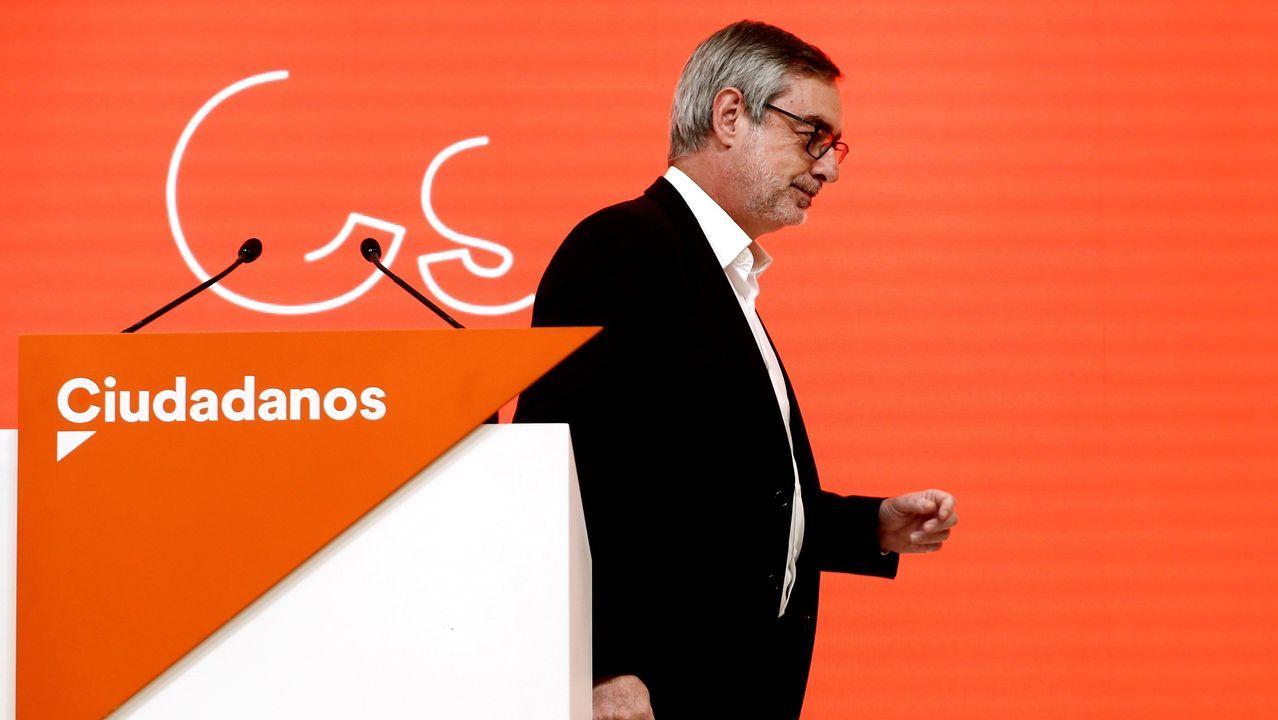 José Manuel Villegas, de Ciuddanos, tras la primera valoración de los resultados