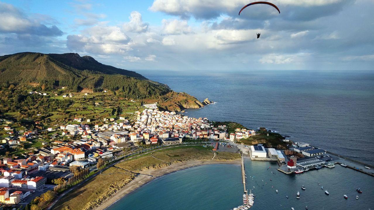 Vista aérea de Cariño, desde el monte Mazanteo