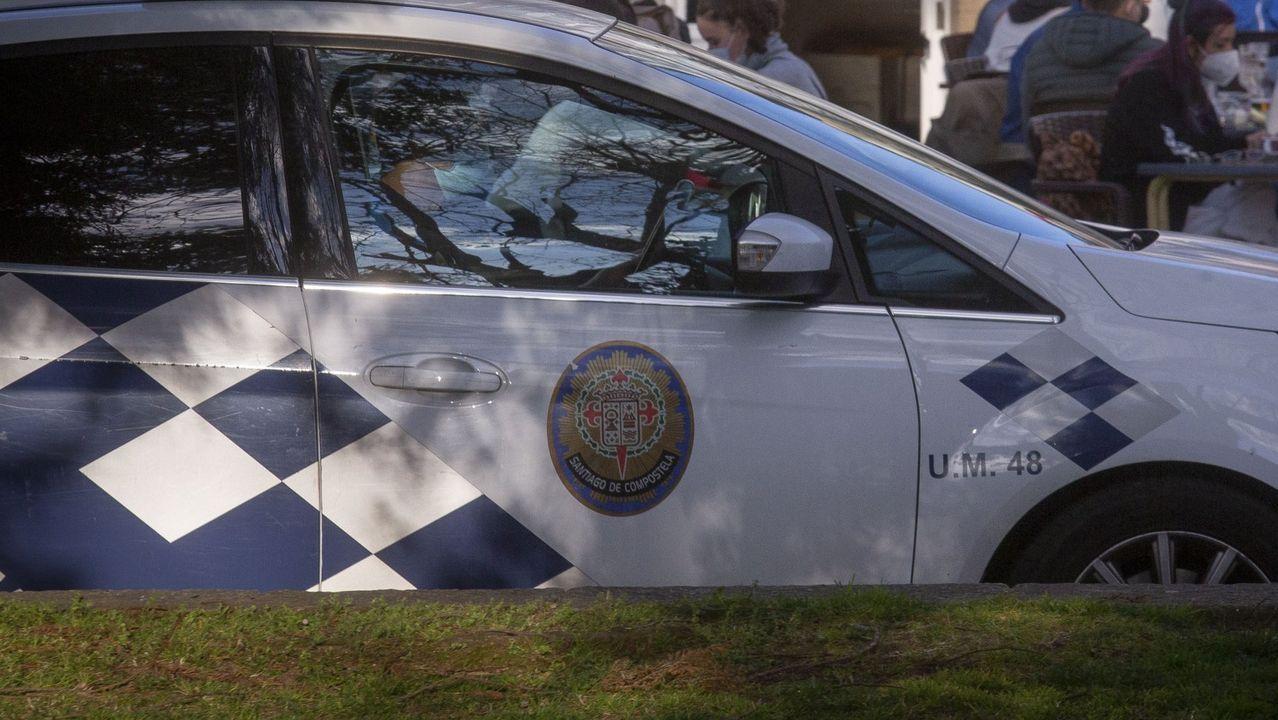 Vista del despliegue policial de la tarde del viernes