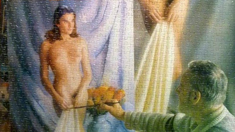 Una de las obras que forman parte de la exposición  A arte do quebracabezas