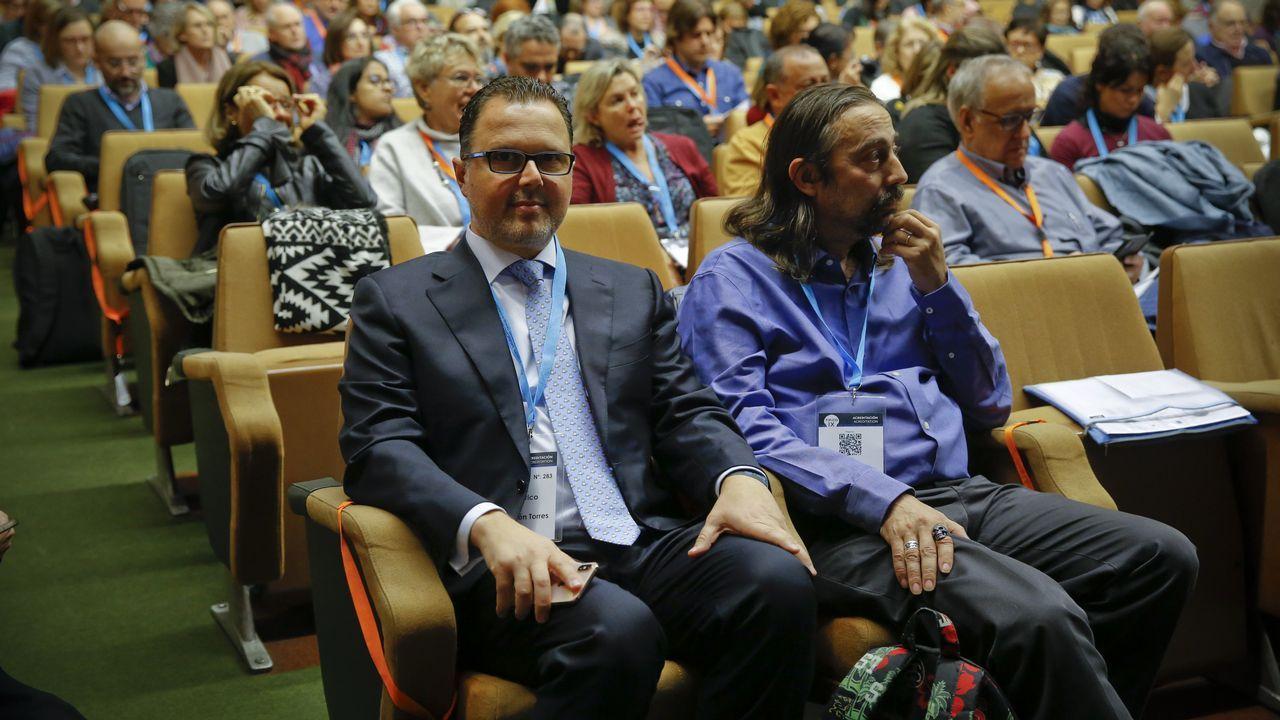 Federico Martinón, jefe de pediatría del área sanitaira de Santiago, en el encuentro internacional de vacunas, este jueves en Compostela
