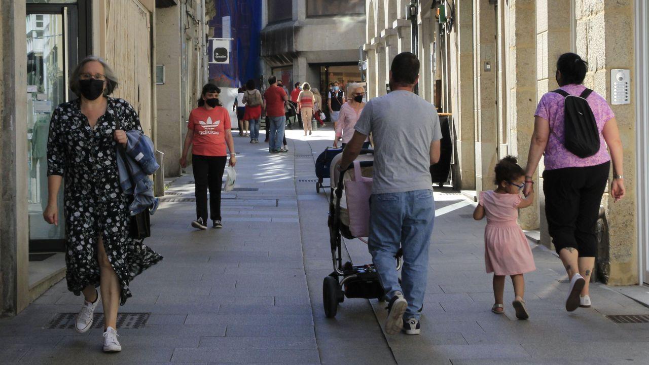 Ambiente en el centro de la ciudad de Lugo, que cuenta con 292 casos