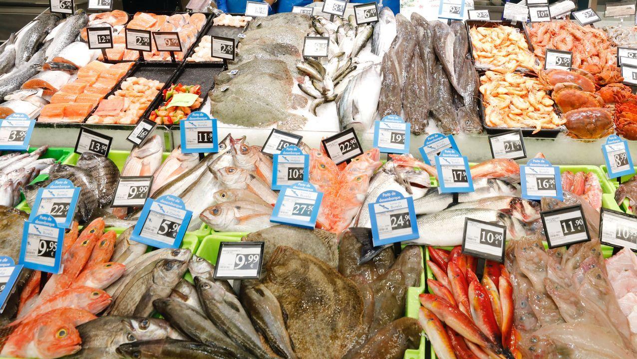 Los Omega 3 que contienen los pescados como estos de un supermercado de Burela «modificarían la actividad de neurotransmisores vinculados a la depresión», según Productores Pesqueros de Lugo