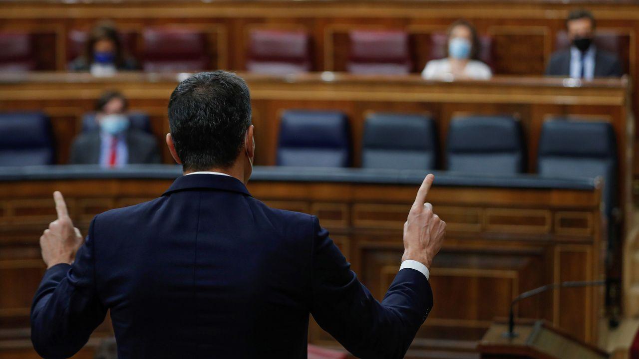 Pedro Sánchez, durante la sesión de control al Gobeirno de este miércoles