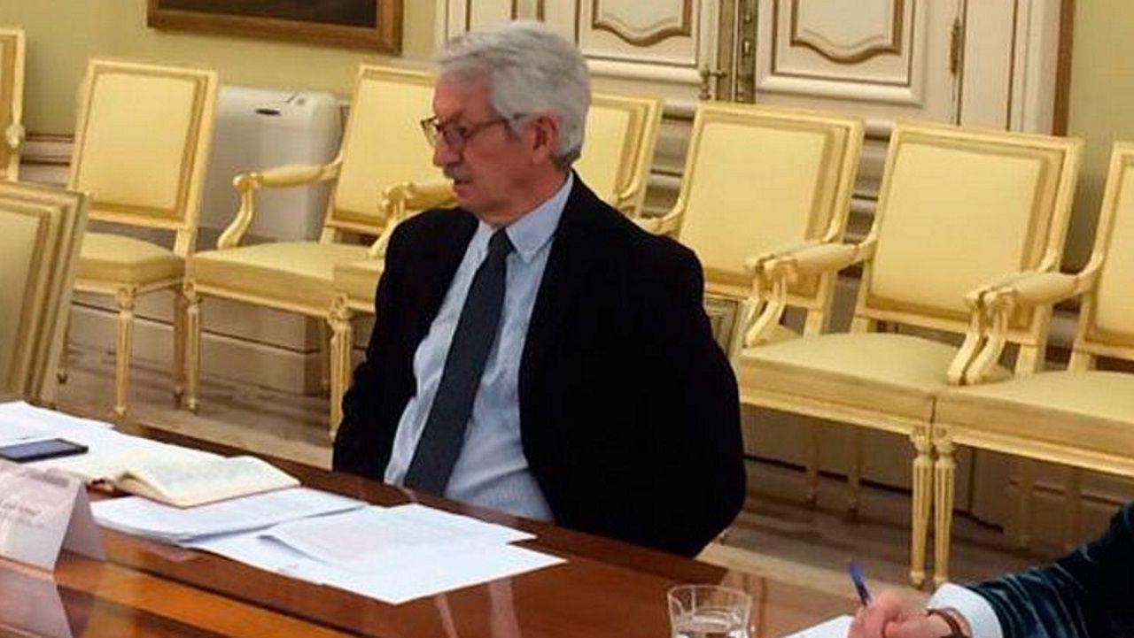 Alejandro Tiana, secretario de Estado de Educación, presidió la reunión. En la imagen, en una videoconferencia de este mismo mes