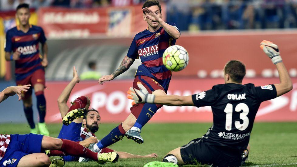 Kranevitter: «Me he adaptado rápido».Messi supera a tres rivales para hacer el 1-2