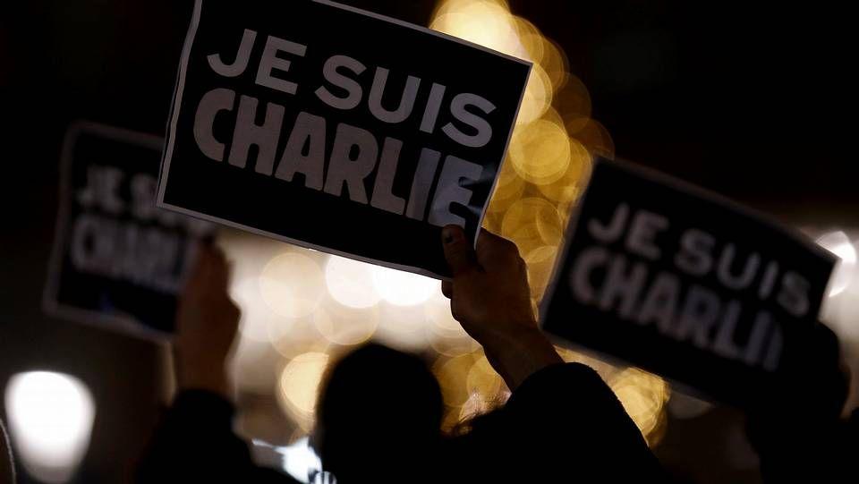 Concentración en Estrasburgo en enero del 2015 tras el ataque al semanario satírico francés «Charlie Hebdo»