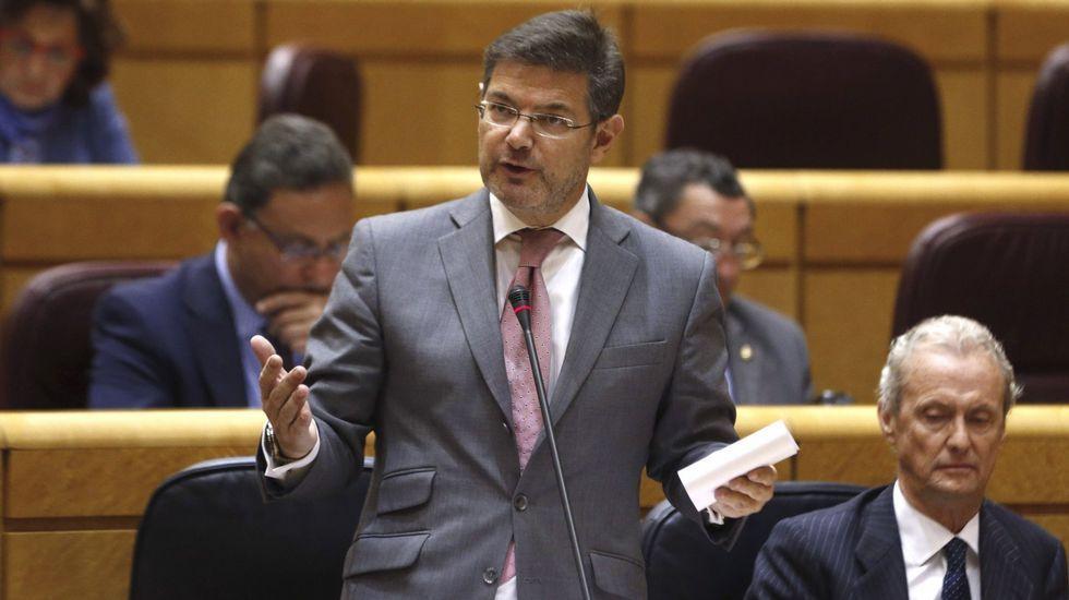 Así se fugó el «Chapo» Guzmán.Rafael Catalá y Carlos Lesmes, presidente del Consejo del Poder Judicial.