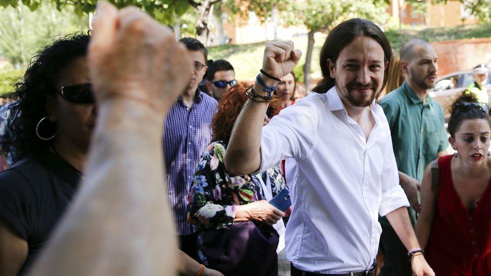 Pablo Iglesias, tras votar
