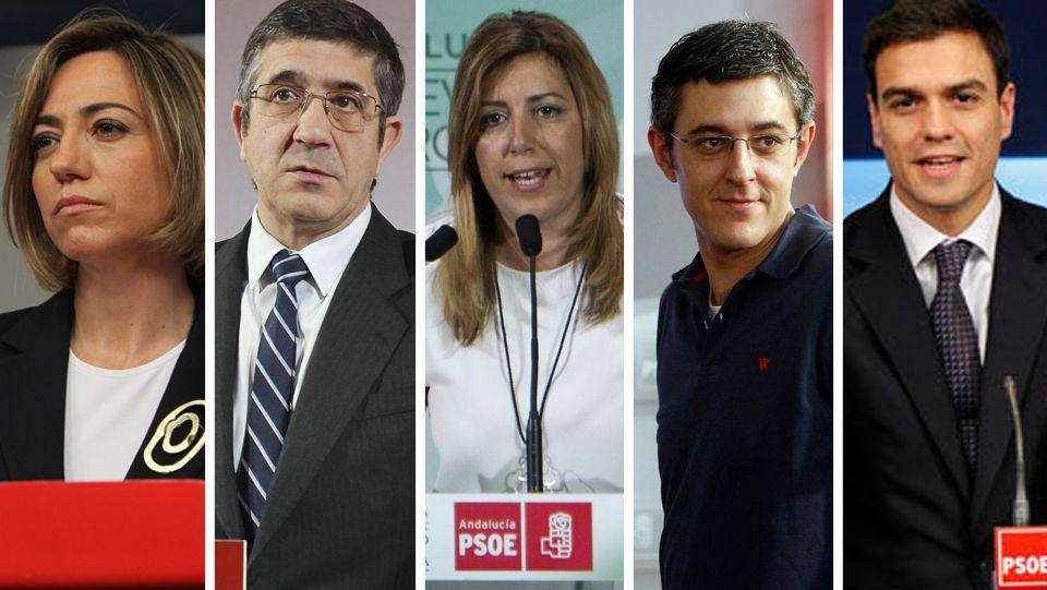 Candidatos.Rubalcaba y Eduardo Madina, número dos del grupo parlamentario, en un momento de la sesión de ayer en el Congreso.