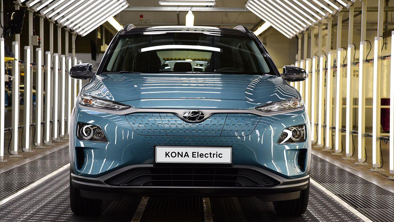 Modelo Hyundai KONA, uno de los coches eléctricos de la marca coreana