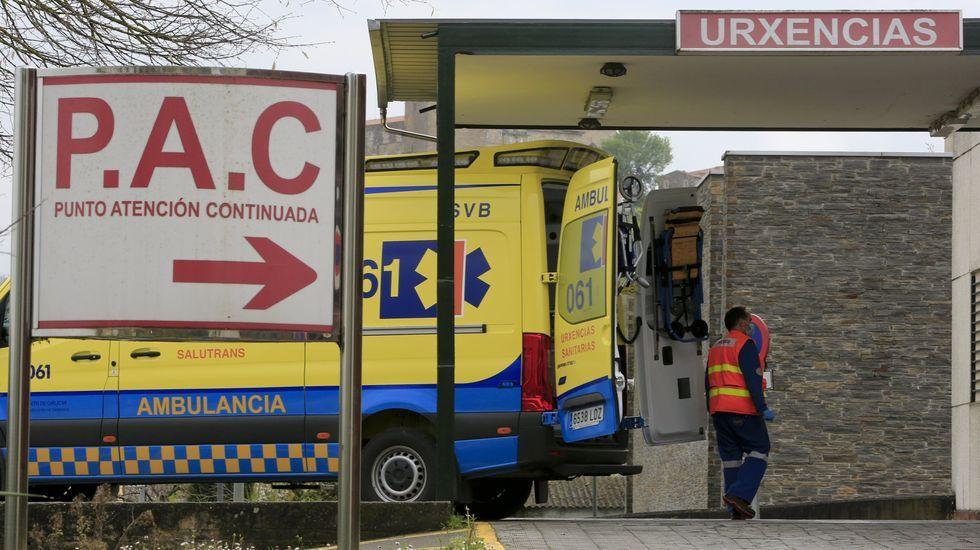 Os afectados foron trasladados desde Quiroga ao hospital de Monforte
