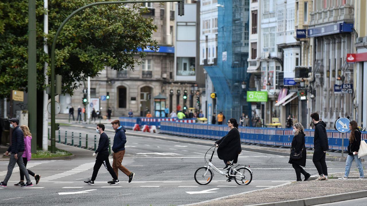 Paseo y bicis en A Coruña