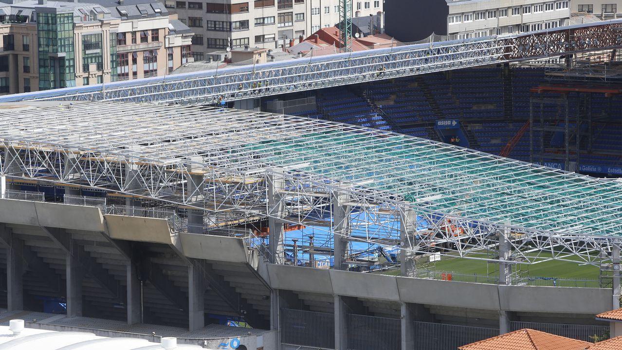 Así están las obras en el estadio de Riazor