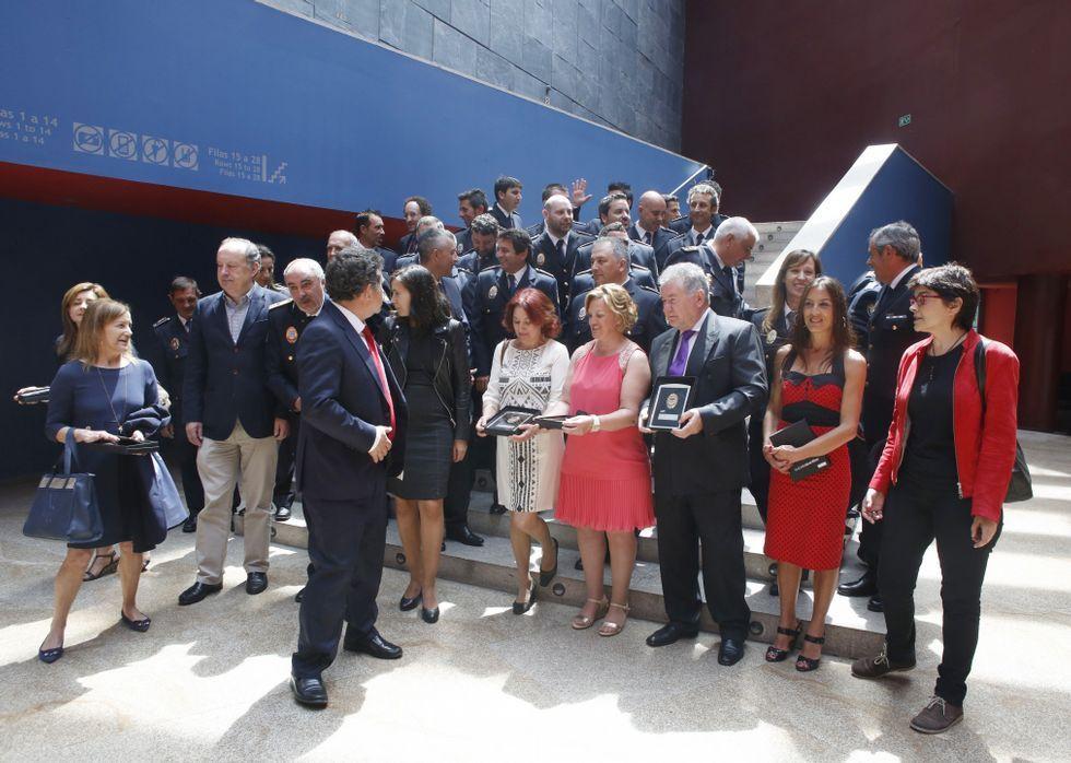 La conmemoración del Día da Policía Local se desarrolló en el Pazo da Cultura de Pontevedra.