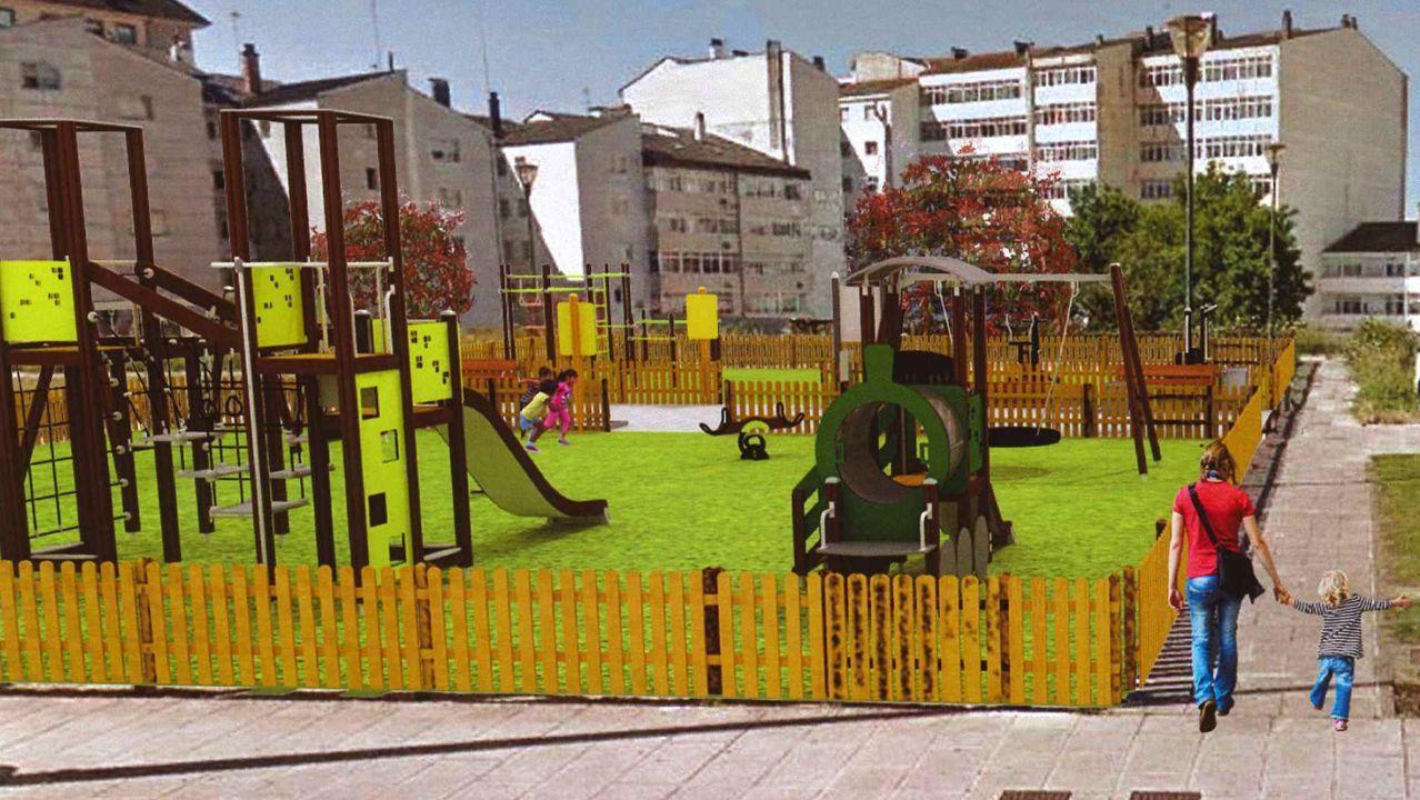 Recreación de como será el nuevo parque de la Rúa Novo Freire