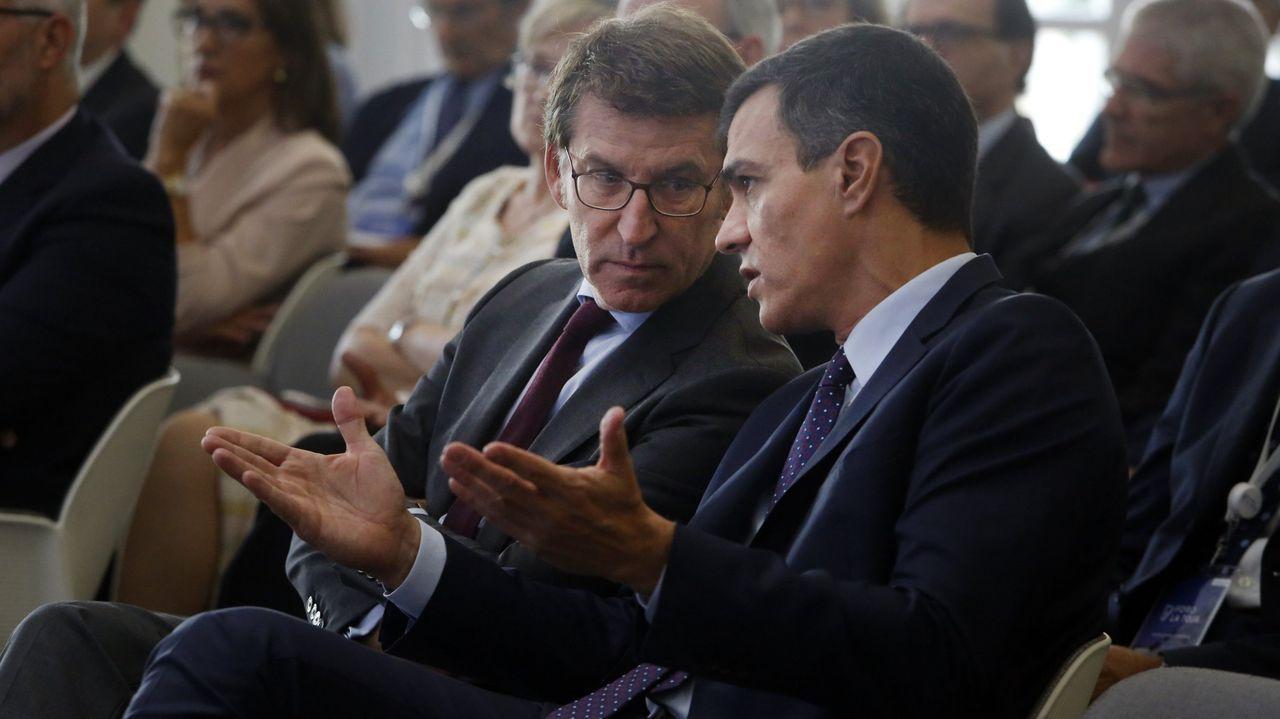 Feijoo y Montero durante un acto en el año 2019