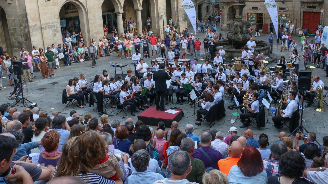 Concierto de la Banda Sons e Soños en Compostela