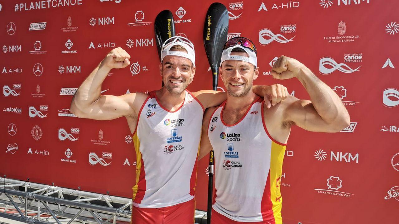 exportar.Roza y Vázquez consiguen la medalla de plata en K2 500 en el mundial de piragüismo