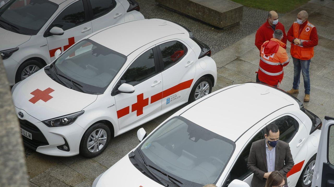 Carolina Herrera contra el covid-19.Ambulancia Asturias