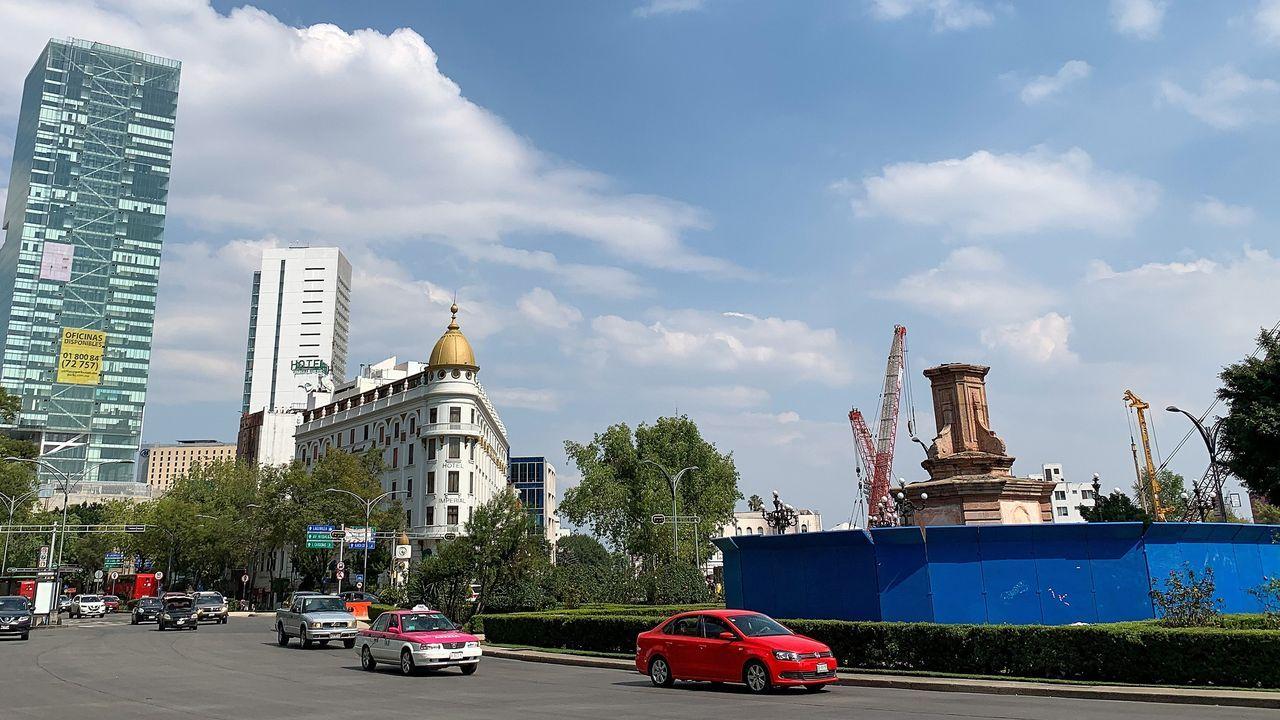 Derrumbe en el metro de Ciudad de México.El gobierno de la Ciudad de México retiró la estatua de Colón del Paseo de la Reforma poco antes de una protesta que quería derribarla el pasado 12 de octubre, día en que se celebra la llegada del navegante a América en 1492