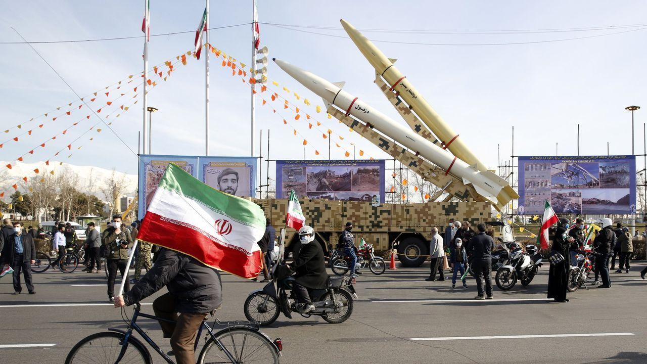 Celebración por el 42 aniversario de la revlución islámica en Teherán, el pasado día 10 de febrero