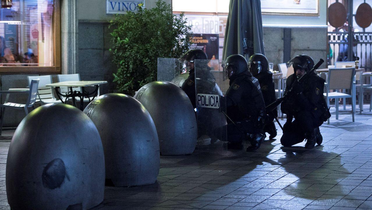 La Policía carga en Madrid tras una manifestación independentista