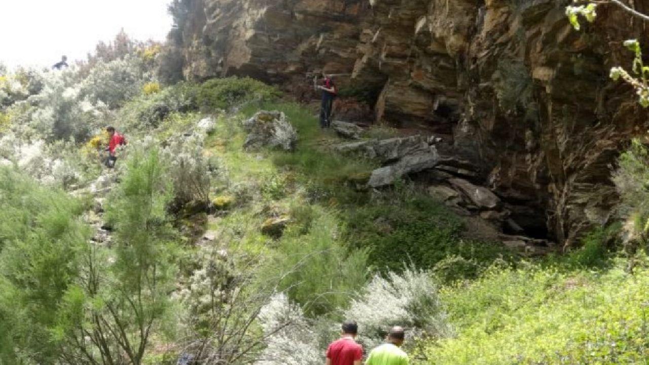 Visitantes en un frente de explotación de la mina romana de A Toca, en una imagen de archivo