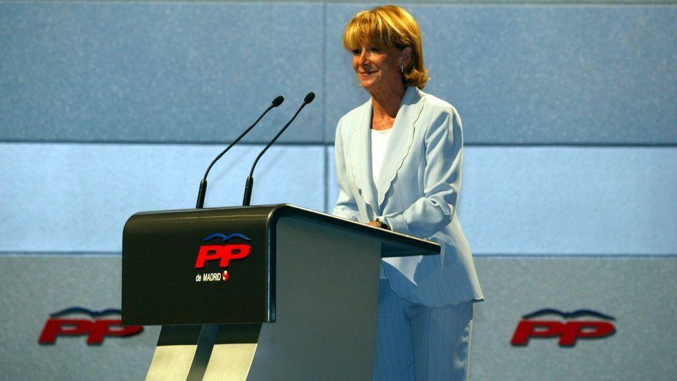 En el 2001, cuando era presidenta del Senado, en una conferencia en el 2001.