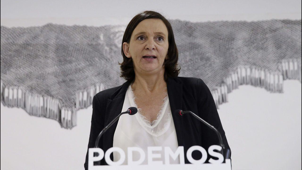 Carolina Bescansa, apartada. Fundadora del partido, rechazó ir en la lista de Iglesias a Vistalegre II y se apartó de la dirección, criticando al líder de Podemos