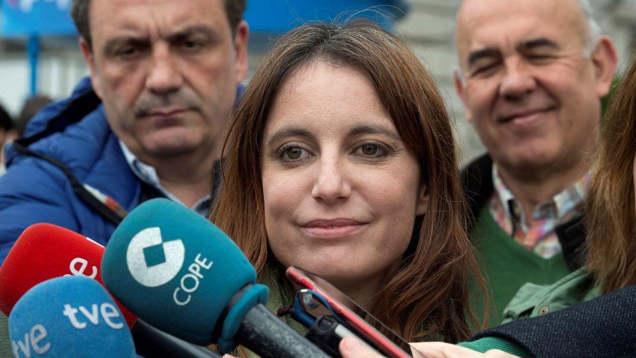 Casado aterriza en Asturias.Mallada y Casado, ayer en Villaviciosa