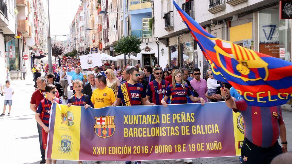 Reunion de peñas del Barcelona en Boiro
