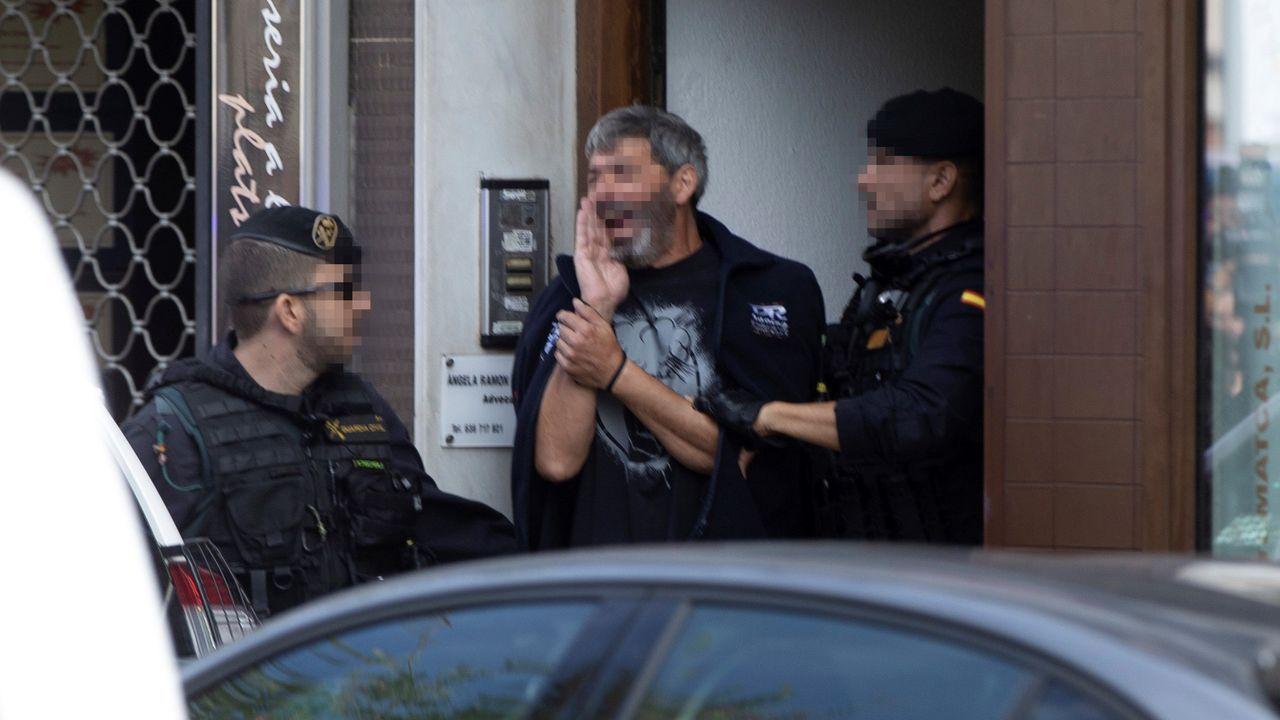 Uno de los nueve detenidos del grupo al que la Guardia Civil ve similitudes con ETA y Terra Lliure