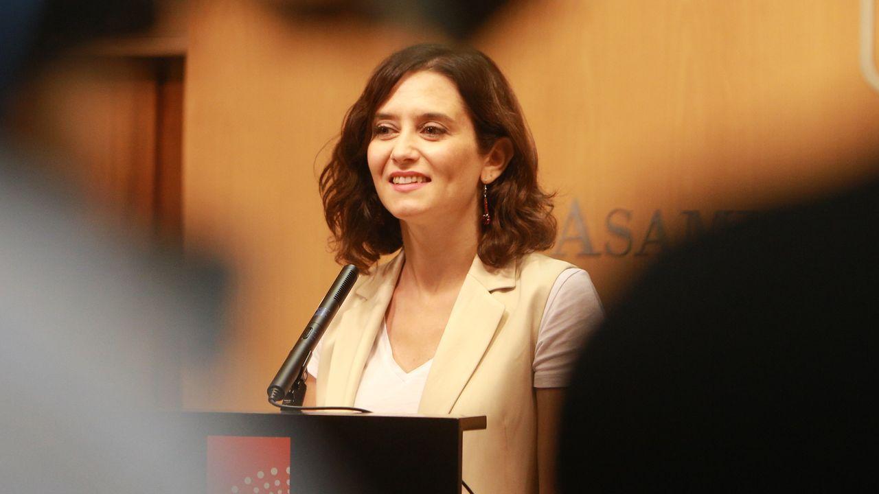 Díaz Ayuso: «Hoy empieza todo, desde luego para mí».Isabel Díaz Ayuso se convertirá, salvo sorpresa, el miércoles en la nueva presidenta de la Comunidad de Madrid