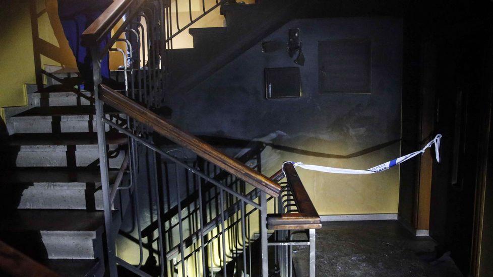 El muerto en El Berrón se desorientó al tratar de escapar del fuego.La casa donde sucedió el asesinato en El Condao (Laviana)
