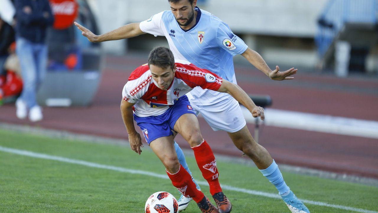 Las imágenes delpartido de fútbol Pontevedra CF - Langreo
