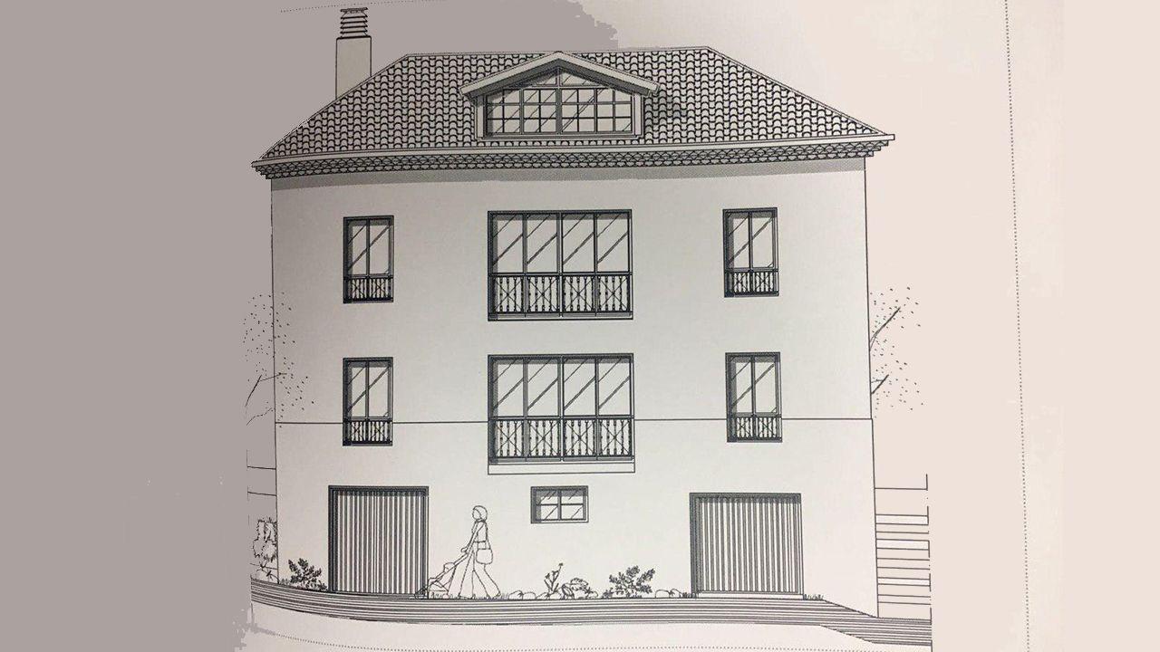 Proyecto del Arzobispado para la casa consitorial del Naranco