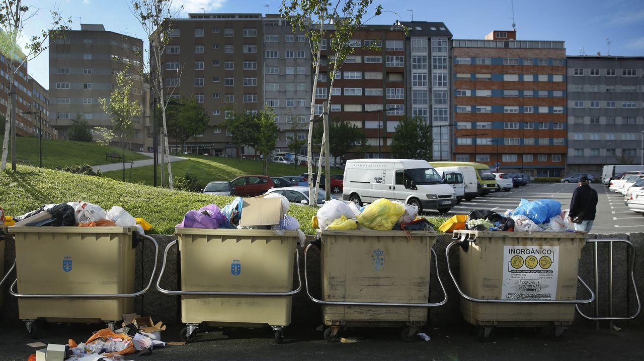 Basura acumulada en la ciudad durante el conflicto de la basura.