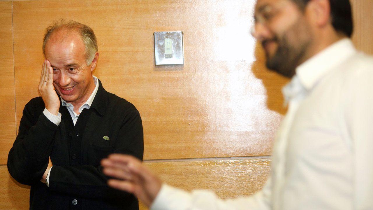 Sánchez pide «responsabilidad» a sus rivales políticos.Instalaciones del Colegio Público Cabueñes, en Gijón