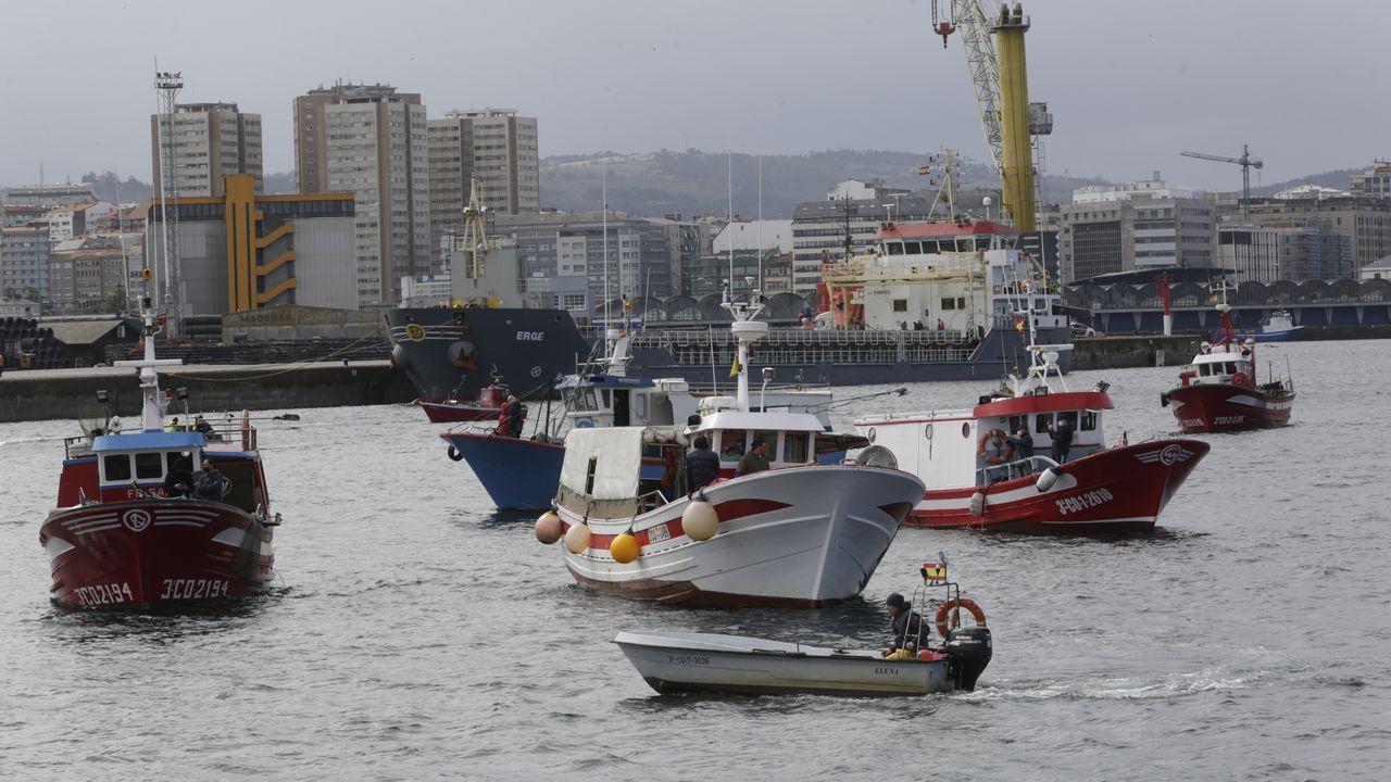 Barcos concentrados en A Coruña