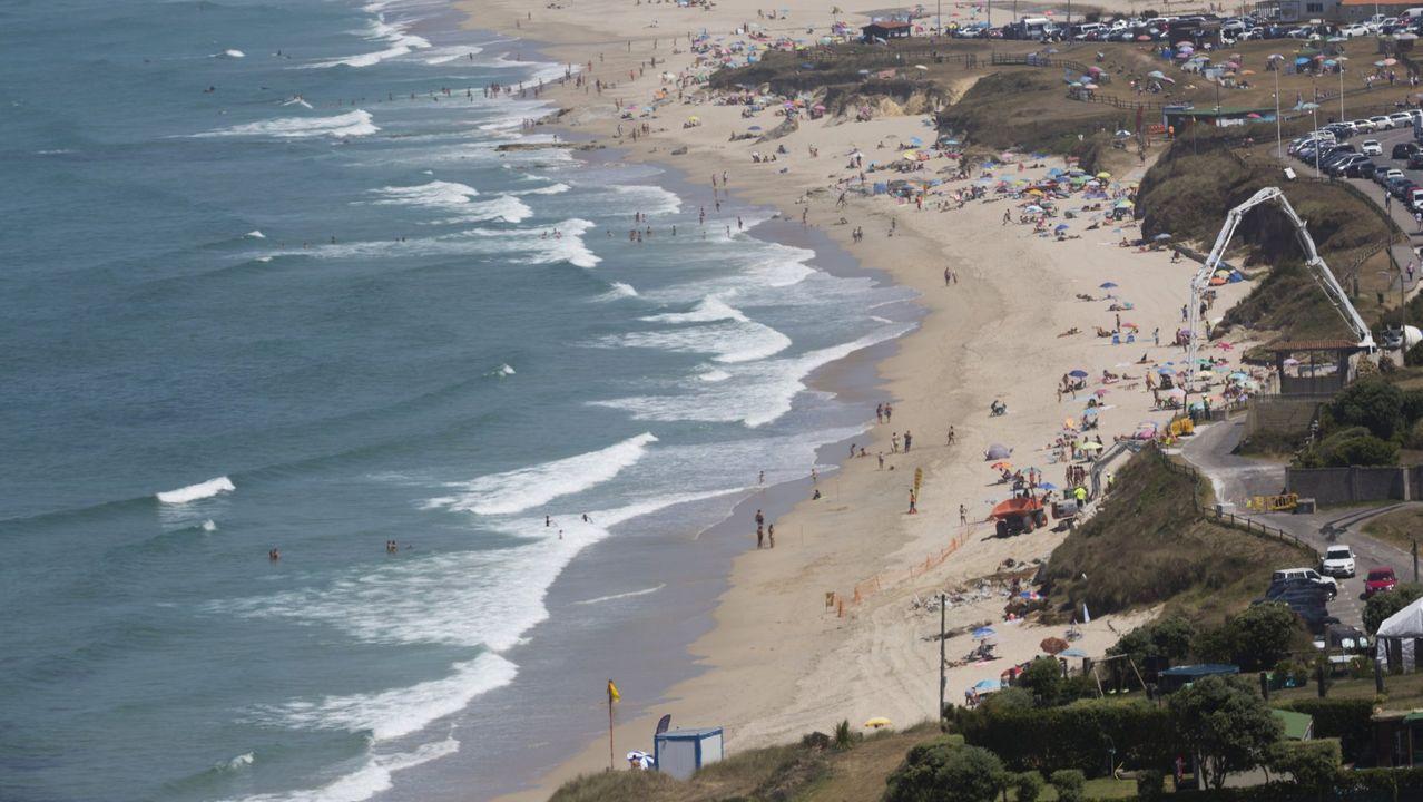 Playa de Razo, en Carballo