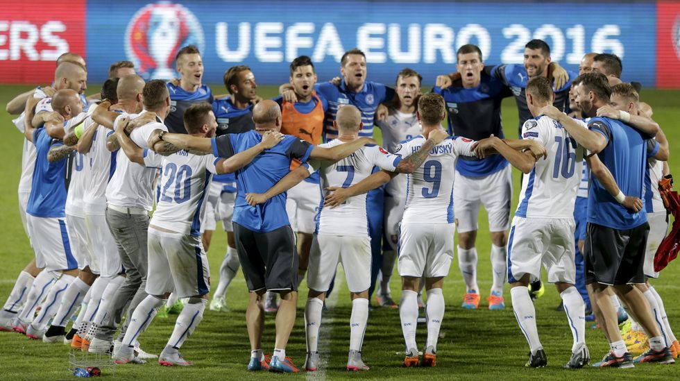 Eslovaquia celebra una victoria sobre Macedonia