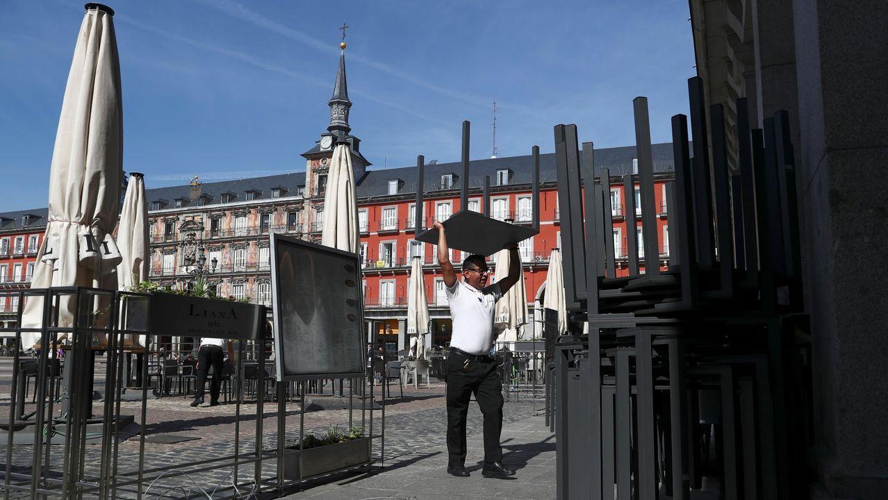 Un hostelero en Madrid, el viernes