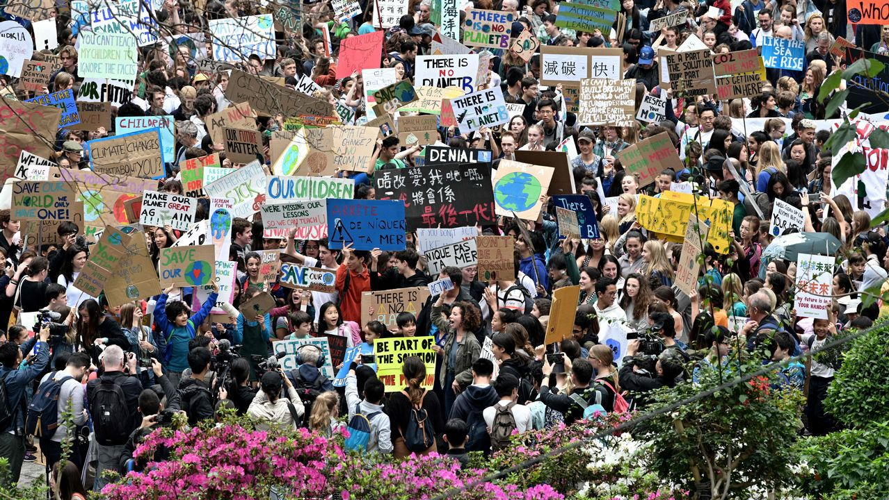 Jóvenes de todo el mundo, contra el cambio climático